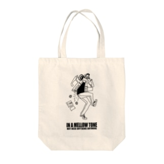 IN A MELLOW TONE -black- Tote bags