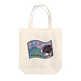 ボーダーコリー 牧羊 Tote bags