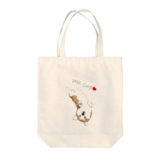 ヘソ天コーギー♥️ Tote bags