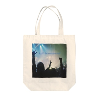 Let's be connected Tote bags