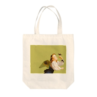 YELLOW GIRL Tote bags