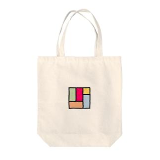 カラフル四畳半 Tote bags