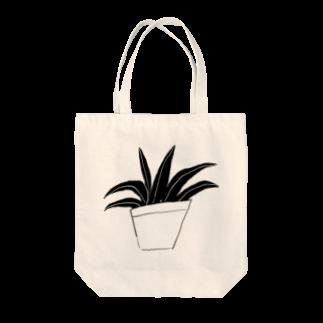 明季の観葉植物トートバッグ