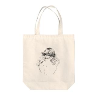 花束と背 トートバッグ