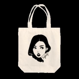 サガケンピクチャーズの顔だけ女子♡ Tote bags