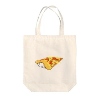 しろくまピザ Tote bags