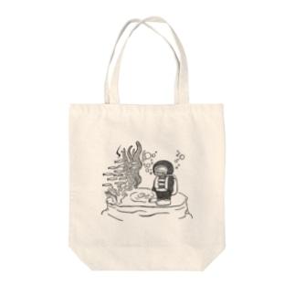 潜水くん Tote bags