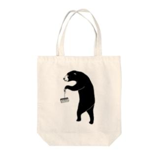 愉快なマレーグマ 4 クマ動物イラスト トートバッグ