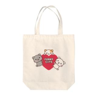 にゃんこ♥ Tote bags