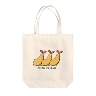 ふらいどふれんど Tote bags