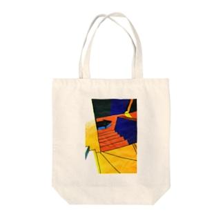 『階段の下』 Tote bags