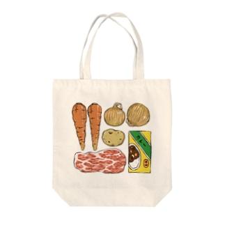 カレーの材料を覚えておくため Tote bags