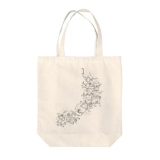 球体ロボと菌類 Tote bags