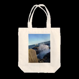 【表源者:ホリイサトシ】のARANAMI~大海~ Tote bags