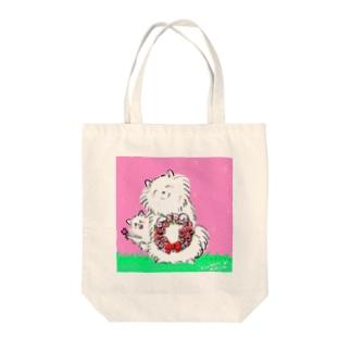 スピッツ親子 Tote bags