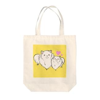 日本スピッツの親子 Tote bags