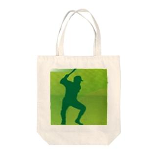 応援歌楽譜スタジアム マスコット Tote bags
