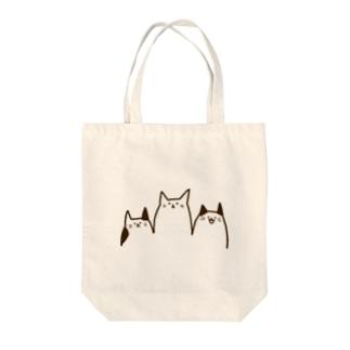 ねこやま Tote bags