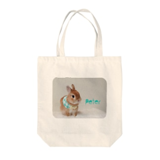 Wearing a green collar PETER 緑のつけ襟ピーター    Tote bags