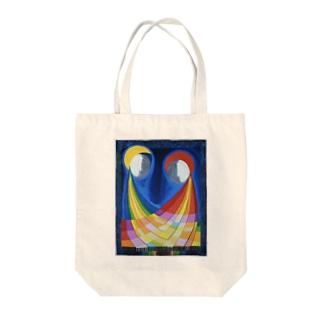 月と太陽 Tote bags