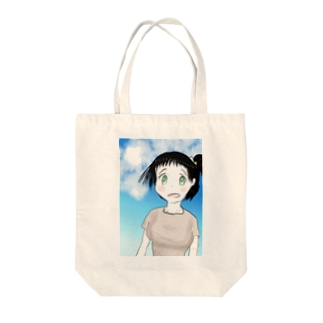 ファンタジー調で描いた村娘 Tote bags