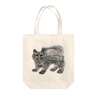 ふわふわの仔猫 Tote bags
