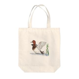 ホシハジロ Tote bags