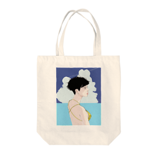 yasu_no_nameの夏の女は獣 Tote bags