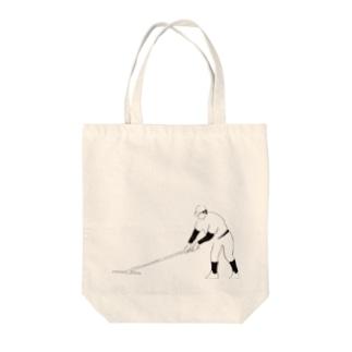 野球部とんぼがけ Tote bags
