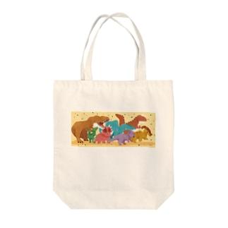 恐竜パレード Tote bags