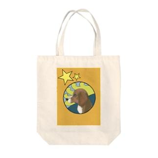 横向きの犬 Tote bags