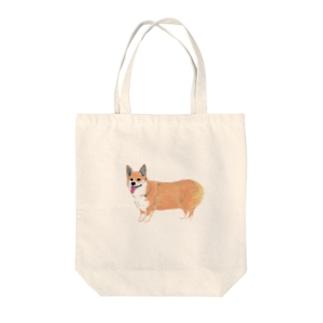 コーギー犬 Tote bags