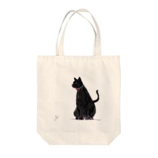 黒猫 Tote bags
