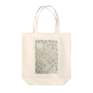 林檎の木と少女 Tote bags