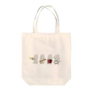プープージャカジャカピロピロドコドコ Tote bags