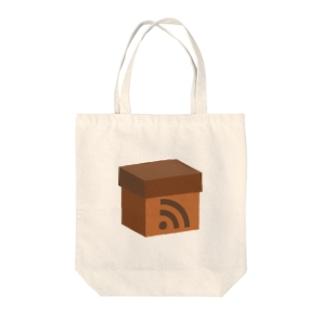 電波ダンボール Tote bags