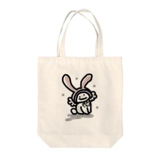 ふゆうさぎ Tote bags
