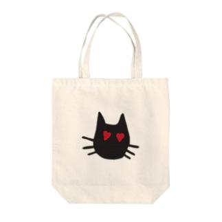 LOVE-cat Tote bags