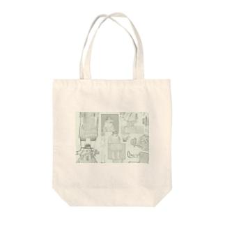 ペストマスク Tote bags