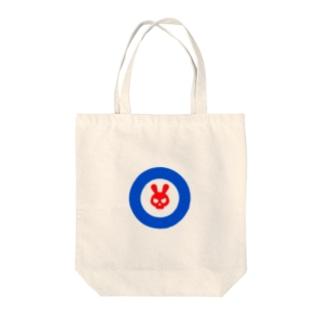 うさぎスカル Tote bags