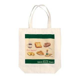 いつかの街のパン屋さんバッグ Tote bags