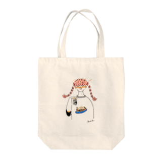 kameの焼きそばガール Tote bags