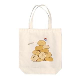 山盛りドーナツ Tote bags