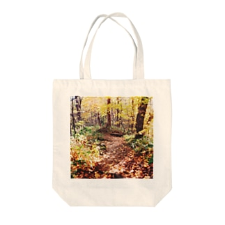 秋の小道01 Tote bags