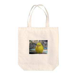 満腹インコ Tote bags