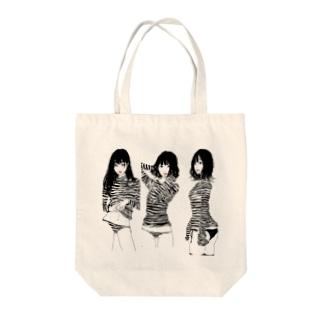 ボーダー Tote bags