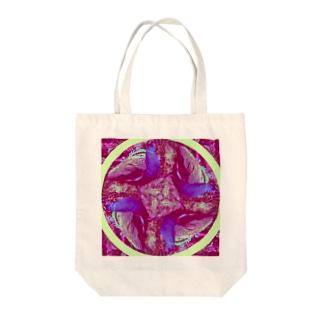 孔雀(circle) Tote bags