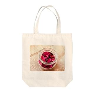 麻袋&赤い花1 Tote bags
