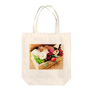 ジュート&プリザーブドフラワー1 Tote bags