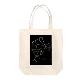 冬のダイヤモンド Tote bags